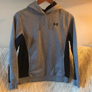 Under Armour blueish grey and black hoodie - small